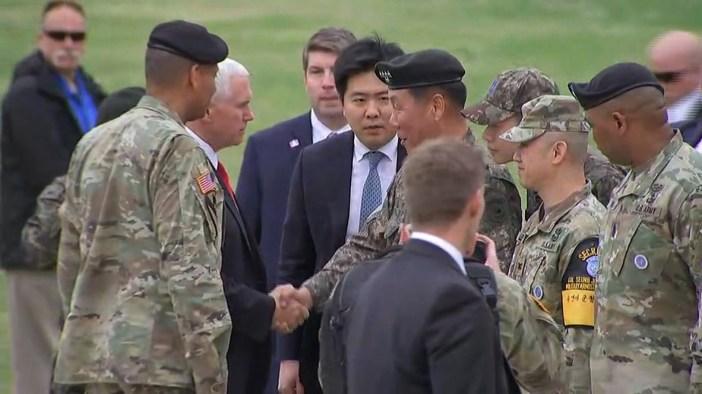 Vice President Pence visits DMZ